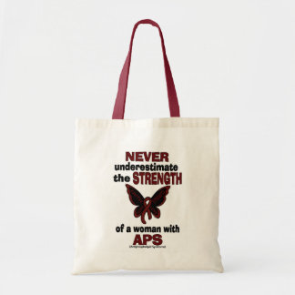 Never Underestimate...Woman/Butterfly...APS Tote Bag