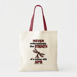 Never Underestimate...Woman/Dragonfly...APS Tote Bag