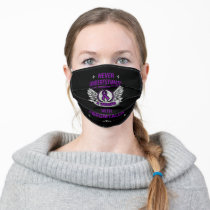 Never Underestimate...Woman...Fibro Adult Cloth Face Mask