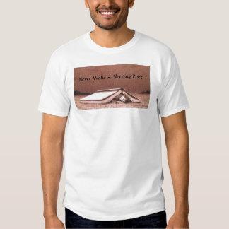 Never Wake A Sleeping Poet T-shirt