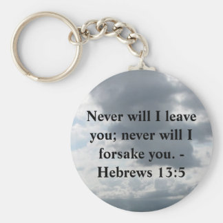 Never will I leave you; never will I forsake you. Keychain