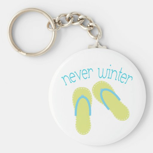 Never Winter Flip Flop Key Chain