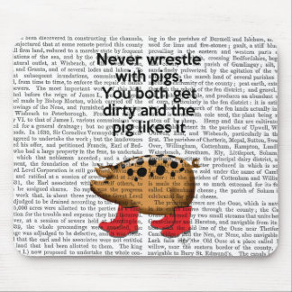 Never Wrestle with Pigs Mouse Pad