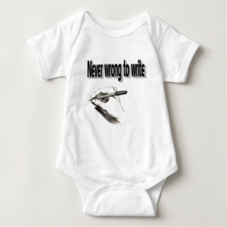 never wrong to write baby bodysuit