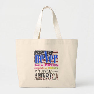 neVerBRAND.com potus EXPOLIT america Tote Bags
