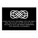 Neverending Celtic Love Knot and poem Post Cards