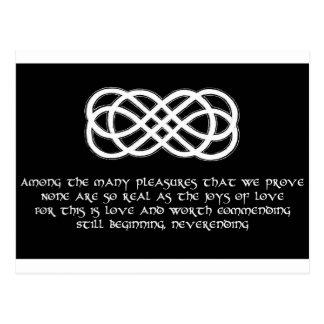 Neverending Celtic Love Knot and poem Postcard