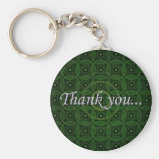 """Neverending Clovers"" Thank You Fractal Art Keychain"