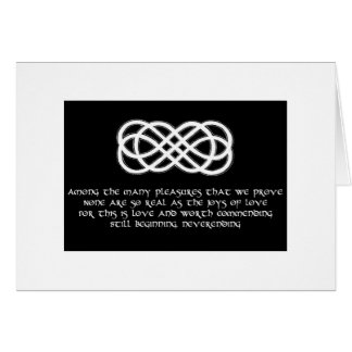 Neverending love knot card and poem