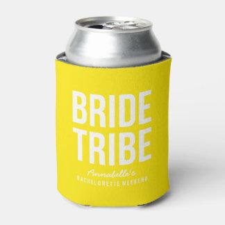 Neverita de bebidas amarillo de neón de la tribu enfriador de latas