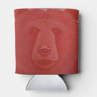 Neverita de bebidas bermellón del oso enfriador de latas
