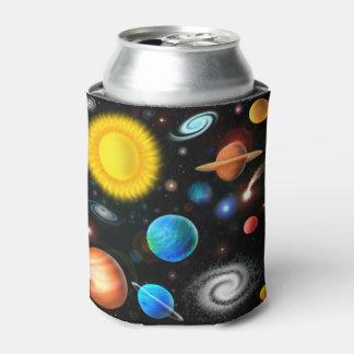 Neverita de bebidas colorido del espacio de la enfriador de latas
