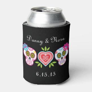 Neverita de bebidas de los cráneos y de las flores enfriador de latas