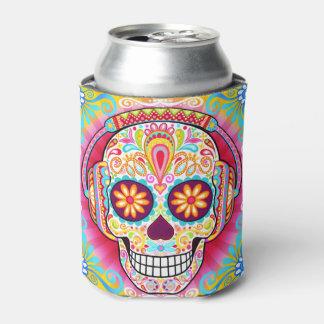Neverita de bebidas del cráneo del azúcar - día de enfriador de latas