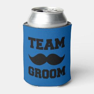 Neverita de bebidas divertido del bigote del novio enfriador de latas