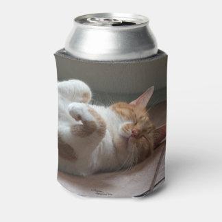 Neverita de bebidas lindo el dormir de los gatos enfriador de latas