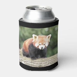 Neverita de bebidas. Panda roja de la fotografía Enfriador De Latas