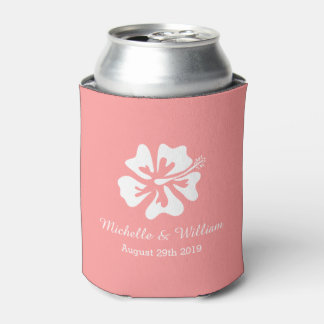 Neverita de bebidas rosado coralino del boda de la enfriador de latas