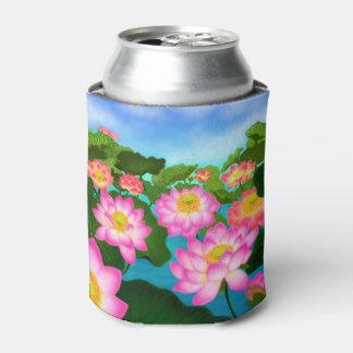 Neverita de bebidas rosado de los lirios de agua enfriador de latas