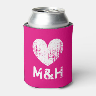 Neverita de bebidas rosado de neón personalizado enfriador de latas