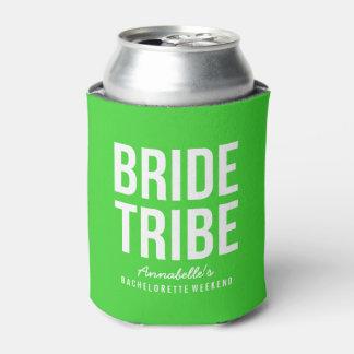Neverita de bebidas verde de neón de la tribu de enfriador de latas