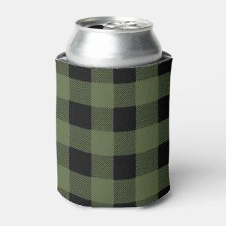 Neverita de bebidas verde y negro de la tela enfriador de latas