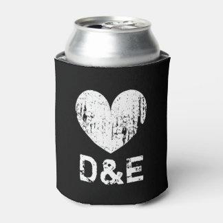 Neveritas de bebidas blancos y negros del boda del enfriador de latas
