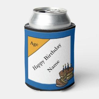 Neveritas de bebidas de encargo del cumpleaños enfriador de latas