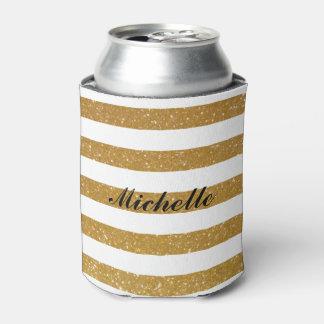 Neveritas de bebidas rayados del brillo conocido enfriador de latas