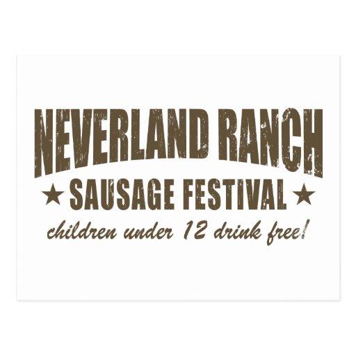 Neverland Ranch Sausage Fest funny Postcard
