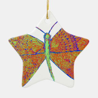 Neverland's Heart Butterfly Ceramic Ornament