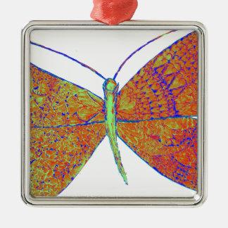 Neverland's Heart Butterfly Metal Ornament