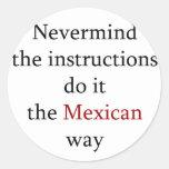 Nevermind las instrucciones lo hace la manera pegatinas redondas
