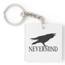 Nevermind Raven Keychain