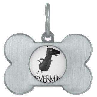 NEVERMIND Raven Pet ID Tag