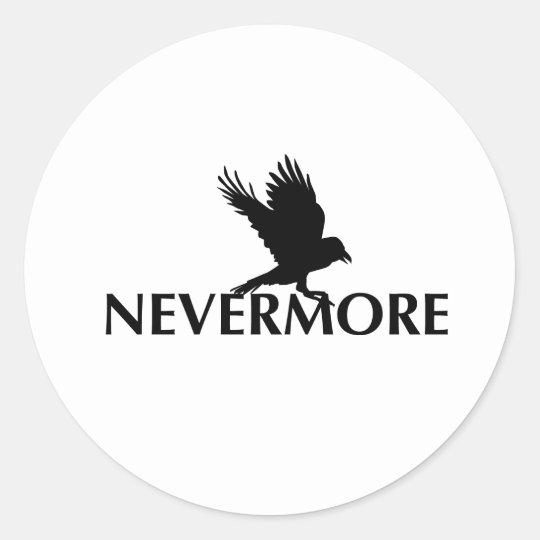Nevermore 3 classic round sticker