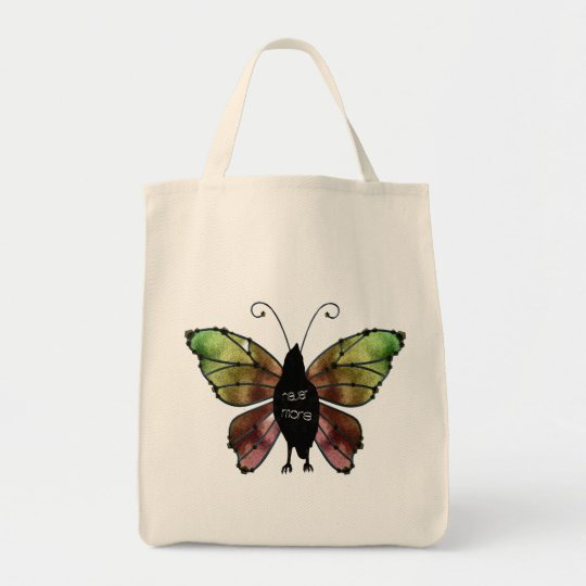 Nevermore Butterfly Raven Tote Bag