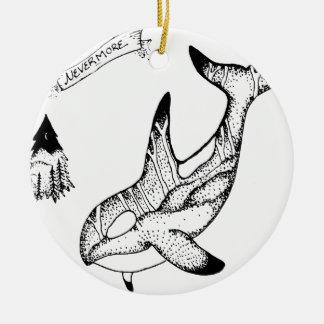 Nevermore Ceramic Ornament