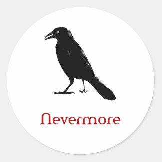 Nevermore Classic Round Sticker