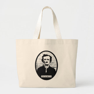 Nevermore Edgar Allan Poe Large Tote Bag