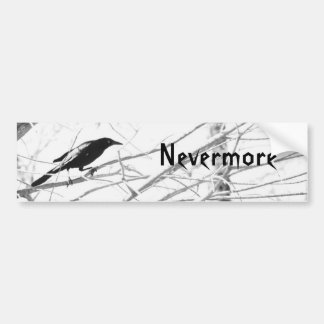 """Nevermore"" Edger Allen Poe Raven Bumper Sticker Car Bumper Sticker"