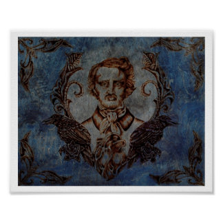Nevermore in Blue Poster