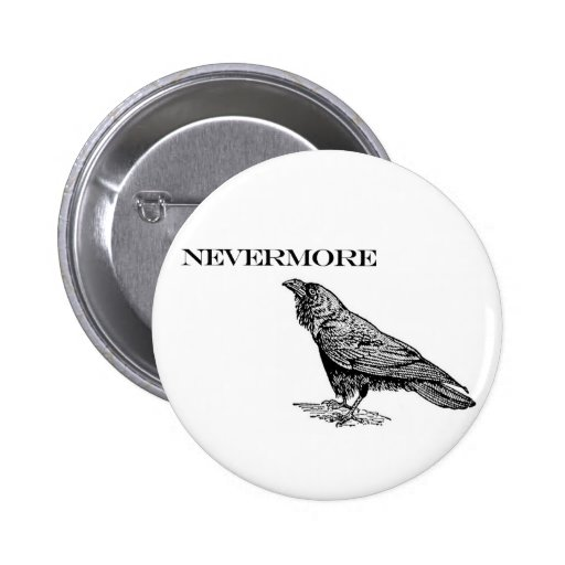 Nevermore Raven Buttons