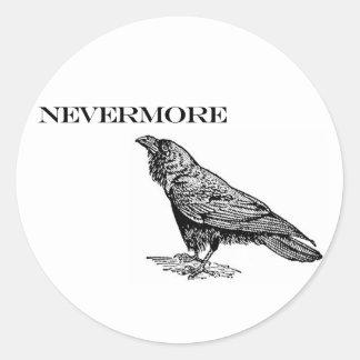 Nevermore Raven Classic Round Sticker