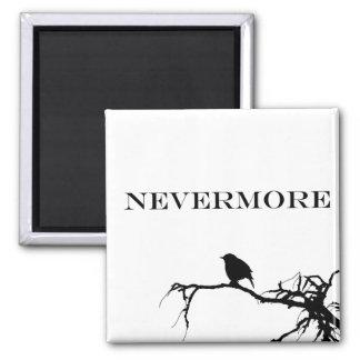 Nevermore Raven Edgar Allan Poe Design 2 Inch Square Magnet