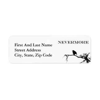 Nevermore Raven Edgar Allan Poe Design Label