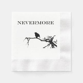 Nevermore Raven Edgar Allan Poe Design Paper Napkin