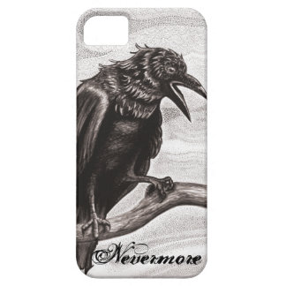 Nevermore Raven in the Mist iPhone Cover