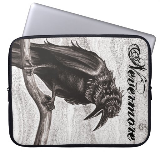 Nevermore Raven in the Mist Sleeve Computer Sleeve