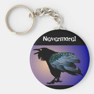 Nevermore Raven Keychain